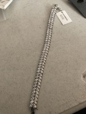 Cubic zirconia sterling silver bracelet retail $380 for Sale in Los Angeles, CA