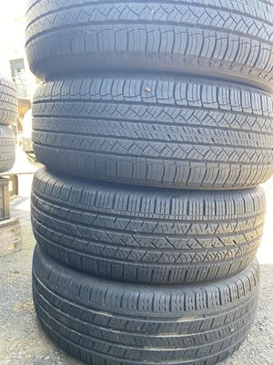 Set 4 usted tire 235/65R18 two Michelin end two Continental one have patch end the other have two patch set 4 used tire $200 for Sale in Alexandria, VA