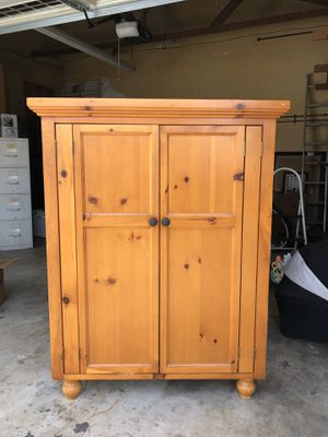 Wood Armoire/TV Cabinet for Sale in Tustin, CA