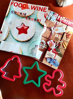 Christmas cookie cutters and holiday mags for Sale in Arlington, VA
