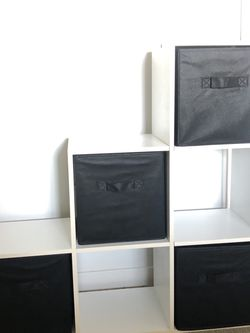 White Shelf With Black Drawers And Cubbies- Storage for Sale in Anaheim,  CA