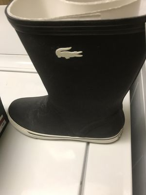 Lacoste boots (rain/snow) Blk size 10 for Sale in Ford City, PA