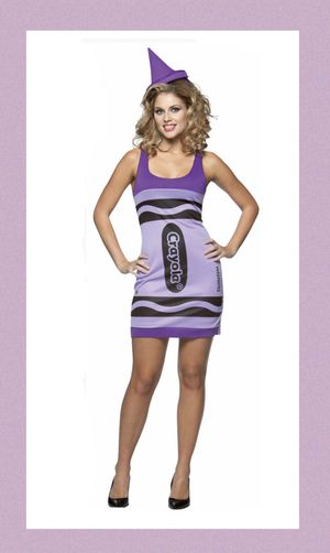 """THE VIOLET PURPLE CRAYON!"" Wakes purple crayola costume size MEDIUM - NEW! for Sale in Carrollton, TX"