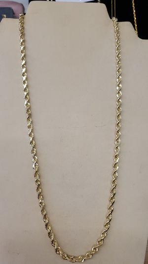 Solid gold 10kt rope chain 24inch for Sale in Mayfield Heights, OH
