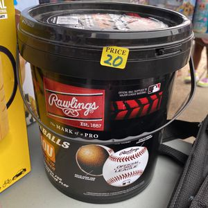 New (12 Pack) Rawlings Bucket of 10U Official League CROLB Practice Youth Baseballs for Sale in Houston, TX