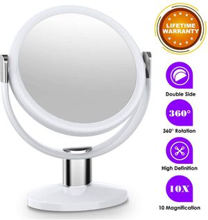 MTORED 10x Magnifying Makeup Mirror, 10 Inch Double Sided Makeup Vanity Mirror 360 Degree Swivel Rotation for Home Tabletop Bathroom Travel for Sale in Elberton, GA