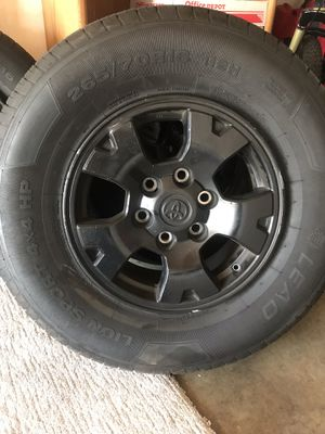2010 -2015 TOYOTA TACOMA SET OF 4 WHEELS & TIRES for Sale in Costa Mesa, CA
