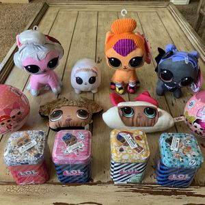L.O.L Surprise plush and myster box items $5 each for Sale in Corona, CA