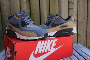 Men's Nike Air Max 90 Premium Running Casual Shoes Grey Pewter Sz 10 700155-010 for Sale in Washington, DC