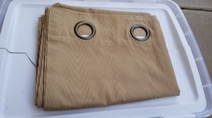 Lovely beige Ellery Homestyle curtain panel grommet top (smoke&pet free) 52W x 84L *2 available* for Sale in Chandler, AZ