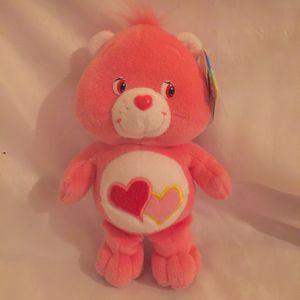 """2003 Care Bears 8"""" Love-a-Lot Bean Bag Plush $10 for Sale in Mesa, AZ"""