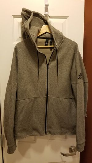 Adidas Zip-up Hoodie (Grey Size L) for Sale in Newcastle, WA