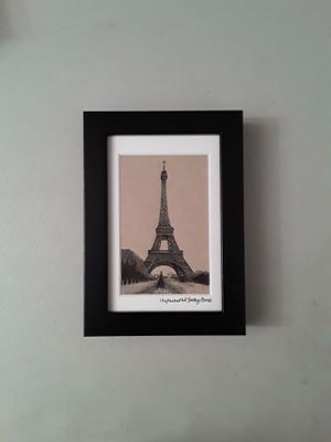 Pen and Ink Drawing - The Eiffel Tower, Paris, France. for Sale in HUNTINGTN BCH, CA
