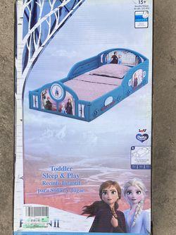 NEW Disney Frozen II Plastic Sleep and Play Toddler Bed by Delta Children for Sale in Garden Grove,  CA