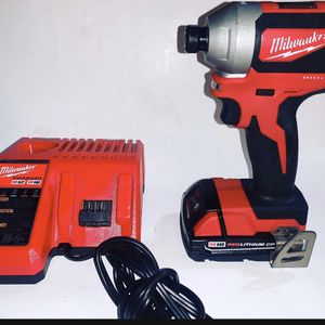 Milwaukee M18 18-Volt Lithium-Ion Brushless Cordless 1/4 in. Impact Driver With BATTERY and CHARGER for Sale in Glendora, CA