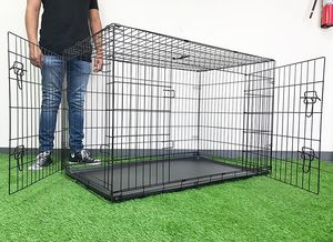 """(NEW) $65 Folding 48"""" Dog Cage 2-Door Pet Crate Kennel w/ Tray 48""""x29""""x32"""" for Sale in Montebello, CA"""