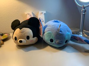 Disney Tsum Tsum Plushies/ Mickey Mouse & stitch for Sale in Roseville, CA