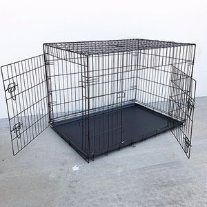 """New in box $55 Folding 42"""" Dog Cage 2-Door Pet Crate Kennel w/ Tray 42""""x27""""x30"""" for Sale in Whittier, CA"""