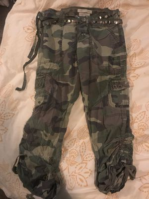 Abercrombie & Fitch Women's Ruched Camo Cargo Pants Small for Sale in Portland, OR