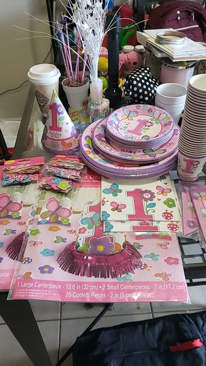 1st birthday butterfly theme decorations for Sale in Miami Gardens, FL