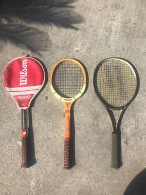 Wilson, Dunlop Maxply Fort, Prince Graphtech DB110 tennis rackets for Sale in Los Angeles, CA