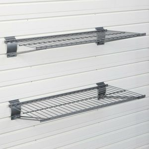 Flow Wall 24 in. x 12 in. Metal Bracket Shelf - Silver (2-Pack) for Sale in Los Angeles, CA