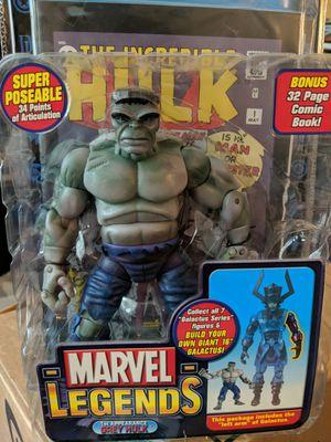 Marvel legends toy biz grey hulk for Sale in Houston, TX