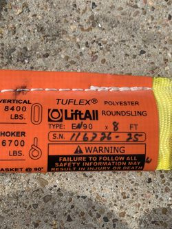Tuflex Liftall Round Sling for Sale in Missouri City,  TX