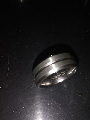 Unisex or Men's Tungsten Wedding Band. Silver Tone Matte Finish Tungsten Carbide Ring. Beveled Edge for Sale in Salt Lake City, UT