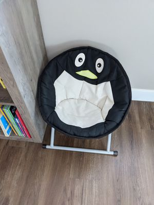Folding penguin kids child lounge chair for Sale in Tacoma, WA