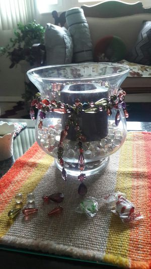 Beautifully Designed Glass Vase/Candle-Holder for Sale in Winter Haven, FL