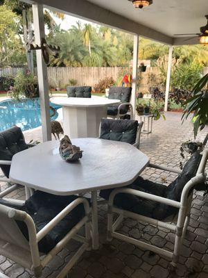 PVC Patio Furniture - Complete Set for Sale in Fort Lauderdale, FL