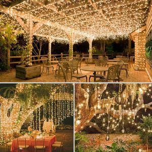 200 LED solar copper wire string decorative garden lamp party lamp fairy light - warm light for Sale in Ontario, CA