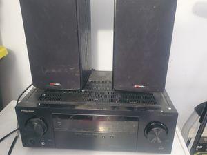 Pioneer 5.1 audio receiver and pair of polk audio bookshelf speakers for Sale in Austin, TX