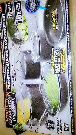 Diamond Infused non stick 10 pans 3 layer as seen on tv for Sale in Port St. Lucie, FL