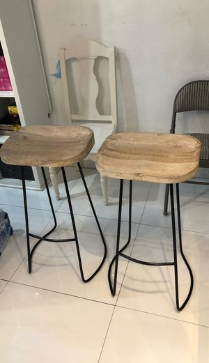 Two bar stools solid wood in great condition for Sale in Commerce, CA