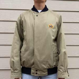 🔥Vintage Men's 'Burberrys' Old School Zip Up Old School Bomber Type Khaki Cream Tan Jacket🔥 for Sale in Colorado Springs, CO