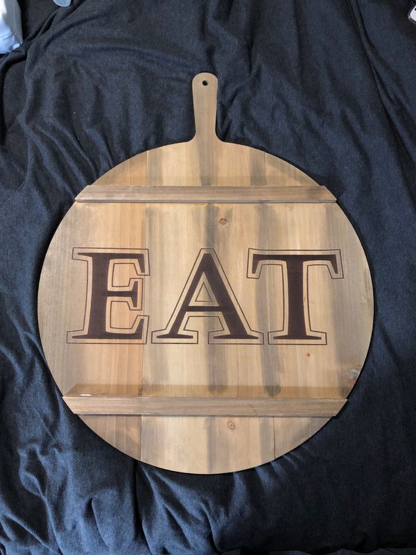 Home wall decor EAT sign