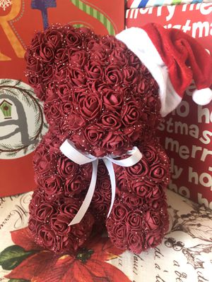 Burgundy Christmas Rose Bear for Sale in North Highlands, CA