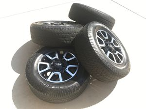 Tundra TRD 5x150 wheels Michelin 275 65 R18 tires for Sale in Mission Viejo, CA