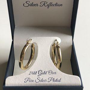 24k gold hoops earrings for Sale in Glenshaw, PA