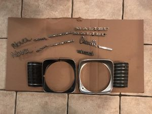 Chevy Nova and Chevelle body parts /emblems for Sale in Phoenix, AZ