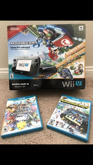 Wii U Mario Kart 8 Bundle + 2 Games for Sale in Menifee, CA