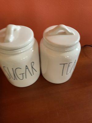New Rae Dunn Tea & Sugar Canisters Set LL Kitchen Storage HTF for Sale in Alexandria, VA