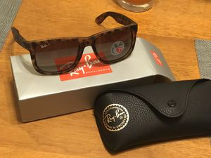 Brand New Genuine Polarized Tortoise Ray Ban Justin Sunglasses for Sale in San Diego, CA