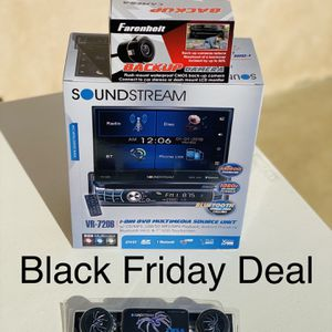 BLACK FRIDAY DEAL !!SOUNDSTREAM 7INCH FLIPUP CAR STEREO BLUETOOTH BACK UP CAMERA for Sale in Commerce, CA