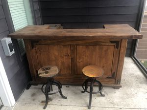 Wooden bar and stools for Sale in Nashville, TN