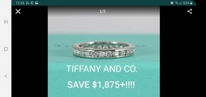 Tiffany diamond eternity wedding band size 5 for Sale in Tampa, FL