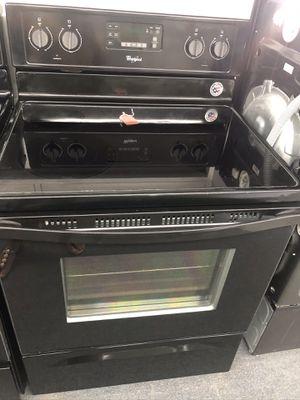 Used whirlpool 4 burner glass top range. 1 year warranty for Sale in St. Petersburg, FL
