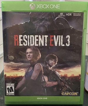 RESIDENT EVIL 3 REMAKE FOR XBOX ONE for Sale in Miramar, FL